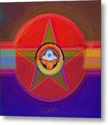 Native American Decal Metal Print
