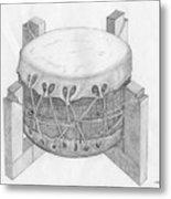 Native American Drum Metal Print