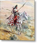Native American Warrior Metal Print