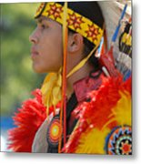Native Indian Metal Print