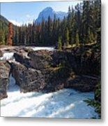 Natural Bridge On The Kicking Horse River Metal Print