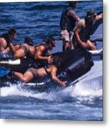 Navy Seals Practice High Speed Boat Metal Print
