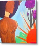 Nduku The Nigerian Beauty And Hummingbird Metal Print