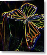 Neon Butterfly Metal Print