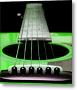 Neon Green Guitar 18 Metal Print