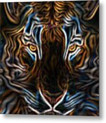 Neon Tigress Metal Print