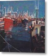 New Bedford Fishing Fleet Metal Print