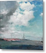 New Brighton From The Mersey Metal Print