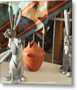 New Mexico Rabbits Metal Print