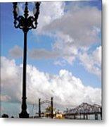 New Orleans Riverwalk Metal Print by Joy Tudor