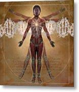 New Vitruvian Woman Metal Print