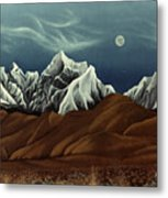 New Years Moon Over Cojata Peru Metal Print