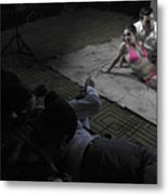 New York City Model Shoot Metal Print