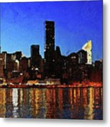 New York City Night Lights Metal Print