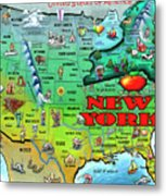 New York Usa Metal Print