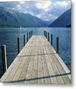 New Zealand Dock Metal Print