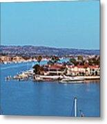 Newport Beach Harbor At Dusk Metal Print