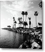 Newport Beach Jetty Metal Print