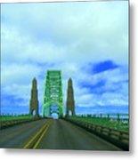 Newport Oregon Bridge Metal Print