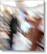 Newstand Blur Metal Print