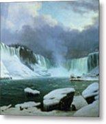 Niagara Falls Metal Print by Hippolyte Victor Valentin Sebron
