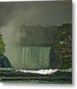 Niagara Falls In Autumn Metal Print