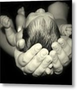 Nicholas In Good Hands Metal Print