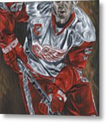 Nicklas Lidstrom Metal Print by David Courson