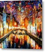 Night Amsterdam Metal Print