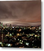 Night Cityscape Metal Print by People are strange by Patricia Kroger