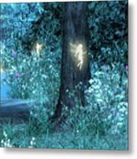 Night Magic Fairy Flight Metal Print