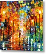 Night Mood In The Park Metal Print