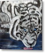 Night Sipper Metallic Paints Metal Print