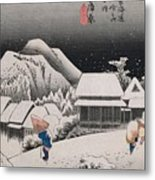 Night Snow Metal Print