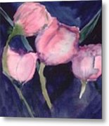 Night Tulips Metal Print