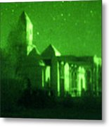 Night Vision Mosque Kandahar Metal Print