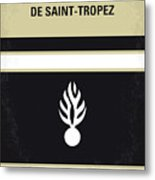 No186 My Le Gendarme De Saint-tropez Minimal Movie Poster Metal Print