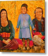 North American Native Family  Metal Print