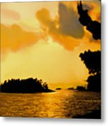 North Channel Sunset Metal Print