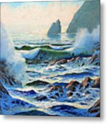 North Coast Surf Metal Print