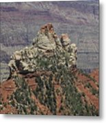 North Rim Rock Metal Print