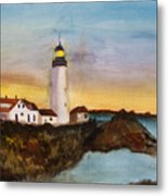 North Truro Light House Cape Cod Metal Print