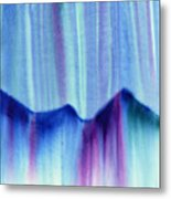 Northern Mountain Lights Metal Print