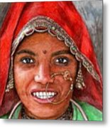 Northindian Woman Metal Print