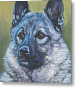 Norwegian Elkhound Metal Print