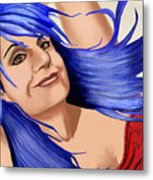 Not Your Typical Little Blue Haired Old Lady Metal Print