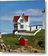 Nubble Lighthouse - D002365 Metal Print