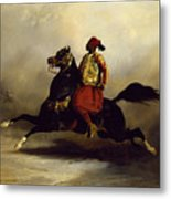 Nubian Horseman At The Gallop Metal Print by Alfred Dedreux or de Dreux