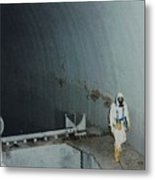 Nuclear Engineer Inside Unit 2 Metal Print