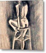 Nude Lady Metal Print